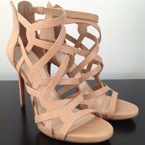 NEW Jessica Simpson Rainah Nude Strappy Heel 8.5